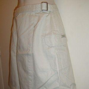 Vintage Wrap 2 Pockets Cargo Buckle Skirt